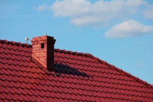 Brick red chimney