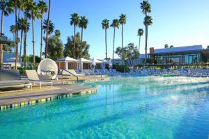 Swimming pool of a resort
