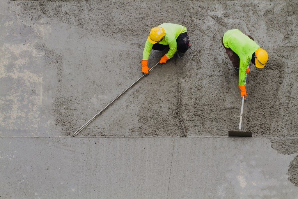 Working on a concrete surface
