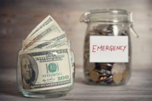 Jar of emergency fund