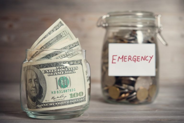 Jar of emergency fund