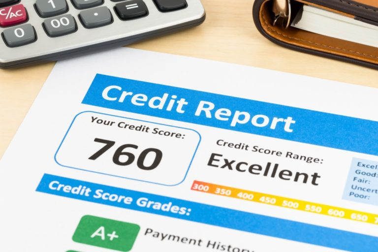 credit report on paper
