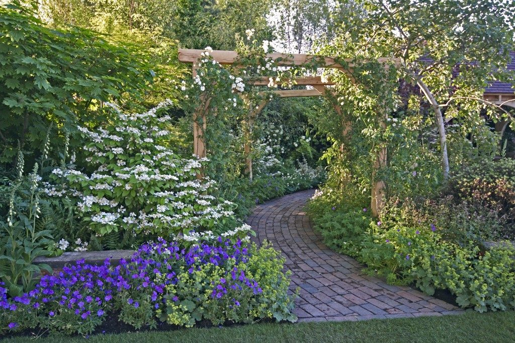 pathway leading to a cottage garden