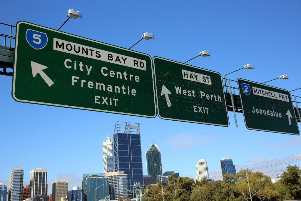 road signs in australia