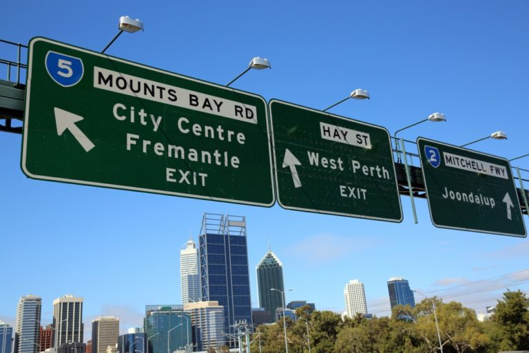 road signs in australia