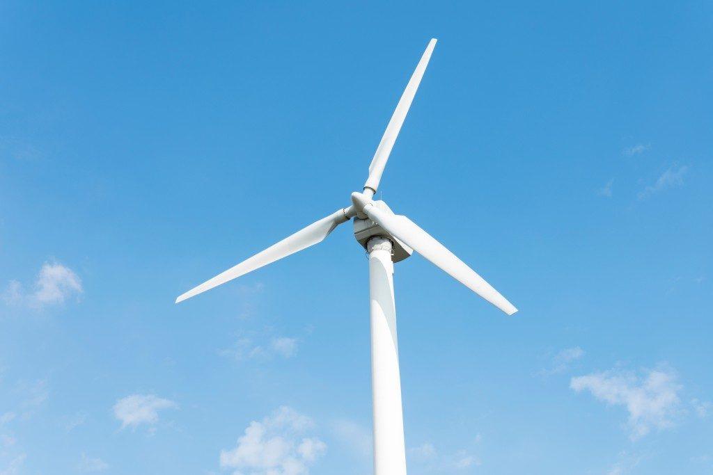 Wind turbine close up