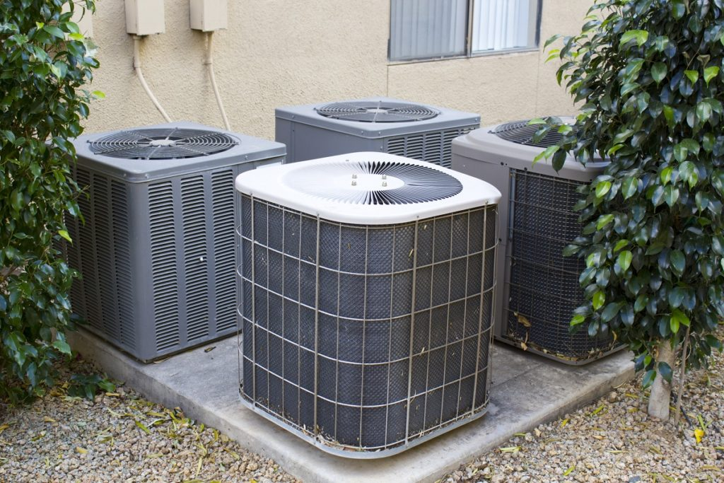 HVAC units outside apartment