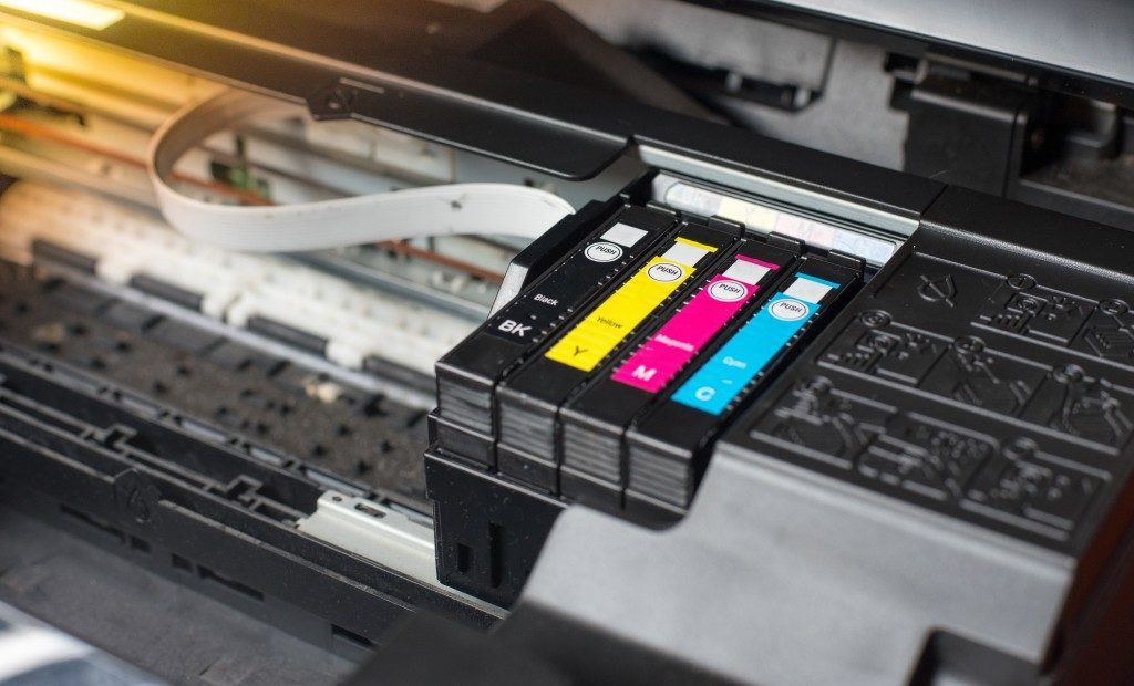 close up photo of a printer