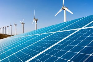 windmills and solar panels