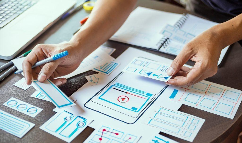 person designing