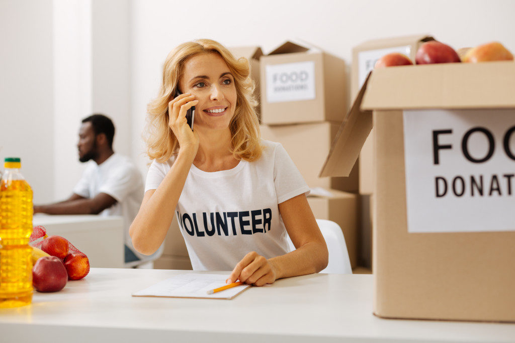 volunteer for charity concept