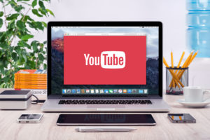 Youtube in laptop