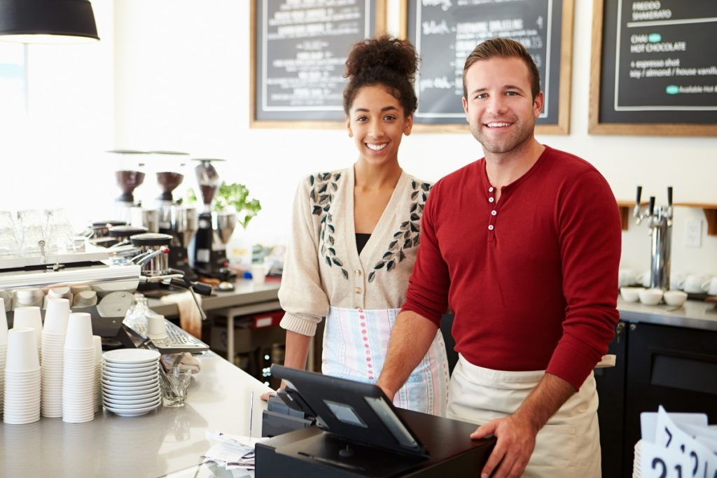 owners at a cafe