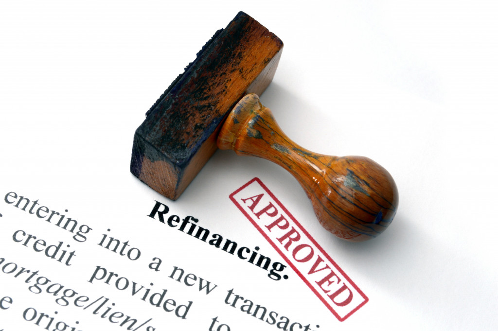 approved refinance application file