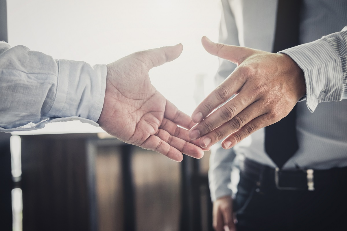 shaking hands concept