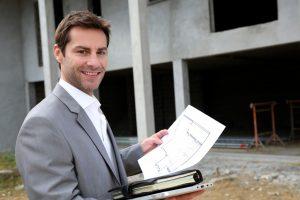 real estate agent preparing contract