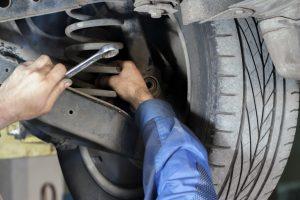 fixing car wheel