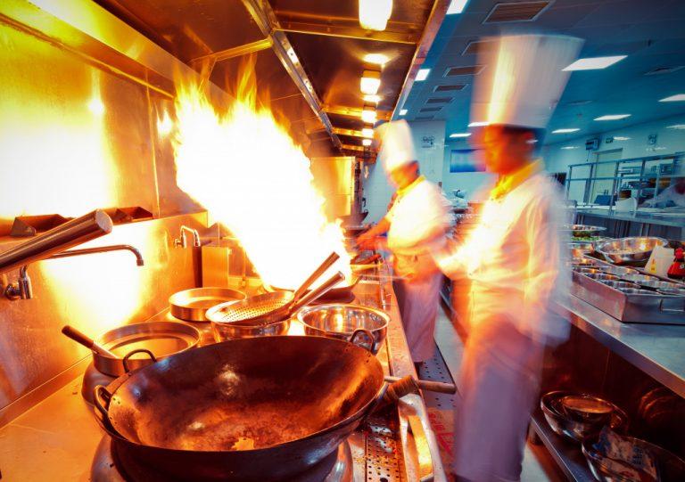 working kitchen
